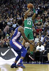 Boston Celtics' Marcus Morris during the NBA London Game 2018 at the O2 Arena, London.