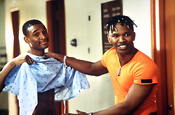 Feb 26, 1997; Hollywood, CA, USA; TOMMY DAVIDSON (left) as Rushon and JAMIE FOXX as Bunz in the hit romantic comedy ''Booty Call''   directed by Jeff Pollack.  (Credit Image: © Courtesy of Columbia Pictures/Entertainment Pictures/ZUMAPRESS.com)