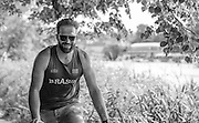 Henley on Thames. United Kingdom. William [Will] SATCH, riding the towpath.  Monday,  27/06/2016,     2016 Henley Royal Regatta, Henley Reach.   [Mandatory Credit  Intersport Images]