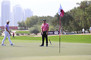 Bryson Dechambeau (USA) on the 2nd during Round 2 of the Omega Dubai Desert Classic, Emirates Golf Club, Dubai,  United Arab Emirates. 25/01/2019<br /> Picture: Golffile   Thos Caffrey<br /> <br /> <br /> All photo usage must carry mandatory copyright credit (© Golffile   Thos Caffrey)