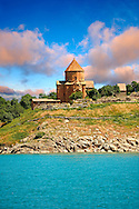 10th century Armenian Orthodox Cathedral of the Holy Cross on Akdamar Island, Lake Van Turkey 47 .<br /> <br /> If you prefer to buy from our ALAMY PHOTO LIBRARY  Collection visit : https://www.alamy.com/portfolio/paul-williams-funkystock/lakevanturkey.html<br /> <br /> Visit our TURKEY PHOTO COLLECTIONS for more photos to download or buy as wall art prints https://funkystock.photoshelter.com/gallery-collection/3f-Pictures-of-Turkey-Turkey-Photos-Images-Fotos/C0000U.hJWkZxAbg