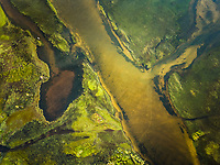 Aerial view of beautiful Cauipe lagoon in Brazil.