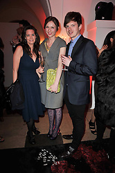 Left to right, KATHERINE GRIEG, SOPHIE ELLIS-BEXTOR and RICHARD JONES at a fashion show & party to celebrate the launch of the Vanessa G label held at the Banqueting Hall, Whitehall, London on 23rd March 2011.