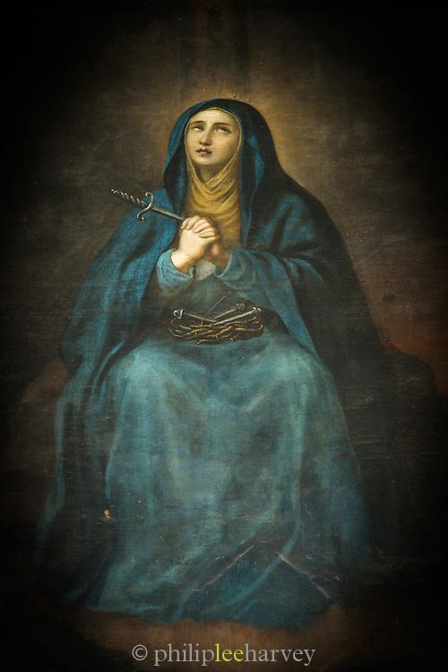 A painting at the entrance to del Convento de San Francisco - Quito, Ecuador, South America