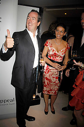 BRIAN & CLARE REID at a dinner in aid of Eve Appeal, Gynaecology Cancer research Fund held at Nobu, The Metropolitan Hotel, Park Lane, London on 3rd September 2007.<br /><br />NON EXCLUSIVE - WORLD RIGHTS