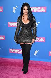 Jennifer JWoww Farley arriving at the MTV Video Music Awards 2018, Radio City, New York. Photo credit should read: Doug Peters/EMPICS