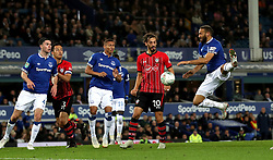 """Everton's Cenk Tosun in action during the Carabao Cup, third round match at Goodison Park, Liverpool. PRESS ASSOCIATION Photo. Picture date:  Tuesday October 2, 2018. See PA story SOCCER Everton. Photo credit should read: Peter Byrne/PA Wire. RESTRICTIONS: EDITORIAL USE ONLY No use with unauthorised audio, video, data, fixture lists, club/league logos or """"live"""" services. Online in-match use limited to 120 images, no video emulation. No use in betting, games or single club/league/player publications"""