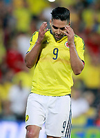 Colombia's Radamel Falcao dejected during international friendly match. June 13,2017.(ALTERPHOTOS/Acero)