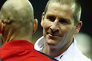 Picture by Andrew Tobin/SLIK images +44 7710 761829. 2nd December 2012. Stuart Lancaster looks on after winning the QBE Internationals match between England and the New Zealand All Blacks at Twickenham Stadium, London, England. England won the game 38-21.