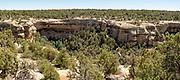 Image from Mesa Verde National Park near Durango, Colorado, showing ancient Anasazi dwellings.