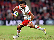 Richie Mo'unga of the Crusaders in action during the Round 2 Trans-Tasman Super Rugby match between the Queensland Reds and the Canterbury Crusaders at Suncorp Stadium in Brisbane, Saturday, May 22, 2021. (AAP Image/Darren England) NO ARCHIVING, EDITORIAL USE ONLY