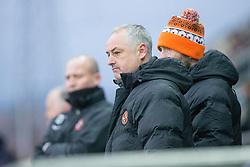 Dundee United's manager Ray McKinnon. Falkirk 3 v 0 Dundee United, Scottish Championship game played 11/2/2017 at The Falkirk Stadium.