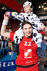 Cvijic Dragana of Krim after the 2nd Round of Group 1 at Women Champions League handball match between RK Krim Mercator, Ljubljana and HC Leipzig, Germany on February 13, 2010 in Arena Kodeljevo, Ljubljana, Slovenia. Krim defeated  Leipzig 32-26. (Photo by Vid Ponikvar / Sportida)