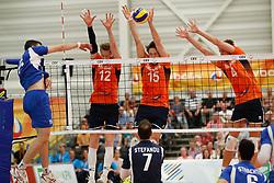 20170525 NED: 2018 FIVB Volleyball World Championship qualification, Koog aan de Zaan<br />Kay van Dijk (12) of The Netherlands, Thomas Koelewijn (15) of The Netherlands, Thijs Ter Horst (4) of The Netherlands <br />©2017-FotoHoogendoorn.nl / Pim Waslander