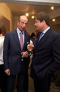 Duke of Kent, Timothy Taylor new gallery opening, Dering  St. 20 May 2003. © Copyright Photograph by Dafydd Jones 66 Stockwell Park Rd. London SW9 0DA Tel 020 7733 0108 www.dafjones.com