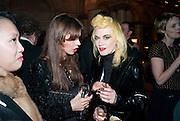 Lara Bohinc; Pam Hogg, Criterion Restaurant  celebrates its 135th anniversary. Piccadilly Circus. London. 2 February 2010