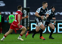 George North of Ospreys<br /> <br /> Photographer Simon King/Replay Images<br /> <br /> Guinness PRO14 Round 11 - Ospreys v Scarlets - Saturday 22nd December 2018 - Liberty Stadium - Swansea<br /> <br /> World Copyright © Replay Images . All rights reserved. info@replayimages.co.uk - http://replayimages.co.uk
