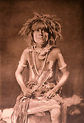 NATIVE AMERICANS E. Curtis photograph, early 20th century, Walpi Snake Priest (Hopi)
