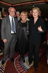 Left to right, MICHAEL & EVELYN BERNSTEIN and MAUREEN McGOLDRICk at a party to celebrate the publication on 'Just One More - A Photographers Memoir' by Gemma Levine held at 34, South Audley Street, London on 7th April 2014.