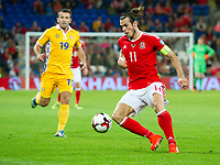 Football - 2018 World Cup - Qualifying 2016 / 2017 - Group D: Wales vs Moldova<br /> <br /> Gareth Bale wearing the captains armband on the ball      …  at the Cardiff City Stadium<br /> <br /> pic colorsport/winston bynorth