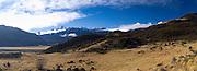 Panoramic view of the Puketeraki Range, New Zealand