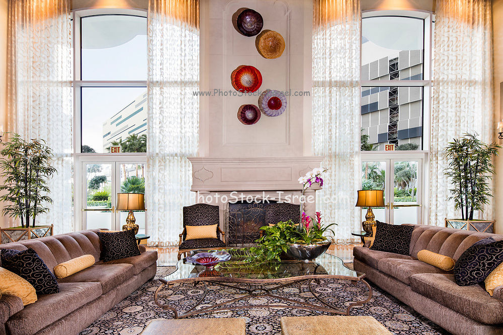 Interior of the Turnberry Towers. Turnberry Towers is a 45-story twin tower condominium complex in Winchester, Nevada, near the Las Vegas Strip.