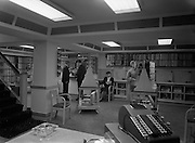 22/04/1955<br /> 04/22/1955<br /> 22 April 1955<br /> <br /> Special for Radio Review - Interior of Record Shop Basement