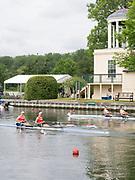 Henley Royal Regatta, Henley on Thames, Oxfordshire, 28 June - 2 July 2017.  Saturday  10:23:11   01/07/2017  [Mandatory Credit/Intersport Images]<br /> <br /> Rowing, Henley Reach, Henley Royal Regatta.<br /> <br /> The Women's Double Sculls<br />  R. de Jong & M. Oldenburg (Hollandia Roeiclub, Netherlands) v  C.B. Bove & L.T. Tarantola (Club France, France)