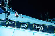 Maddie Bowman during Women's Ski Superpipe Practice at 2014 X Games Aspen at Buttermilk Mountain in Aspen, CO. ©Brett Wilhelm/ESPN