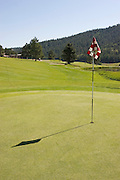 Vertical of greens at Valle Escondido Taos Canyon Golf Course