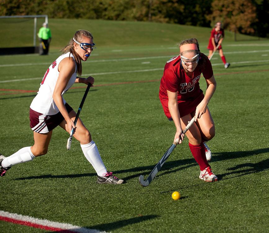 Taft School-September 2013- Girls Varsity Field Hockey v Loomis-Chaffee. (Photo by Robert Falcetti)