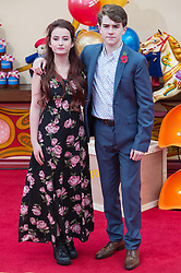 © Licensed to London News Pictures. 05/11/2017. London, UK. MADELEINE HARRIS and SAMUEL JOSLIN attends the Paddington Bear 2 UK film premiere. Photo credit: Ray Tang/LNP