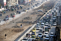 January 3, 2018 - Pakistan - PESHAWAR, PAKISTAN, JAN 02: Construction of route for Peshawar Sustainable Bus Rapid .Transit Corridor Project System is underway, in Peshawar on Tuesday, January 02, 2018. (Credit Image: © PPI via ZUMA Wire)