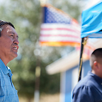 082714      Cayla Nimmo<br /> <br /> Daniel Largo talks about the journey of his son receiving the veterans housing in Pinedale Wednesday afternoon.