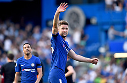 Chelsea's Gary Cahill waves to the fans at the end of the Premier League match at Stamford Bridge, London.
