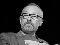 Rick O'Shea at the 'Is the Novel More Important than ever?' discussion at the Dalkey Book Festival, Dalkey, County Dublin, Ireland, Saturday 17th June 2017. Photo credit: Doreen Kennedy