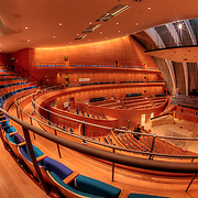 The seats are being installed as of March 1 2011 in Helzberg Hall at the Kauffman Center.