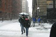 New York, Manhattan under the snow / Manhattan sous la neige
