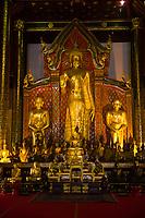 Prayer hall, Wat Chedi Luang (Buddhist temple), Chiang Mai, Northern Thailand