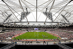 General View of the stadium as the lower teir of retractable seating is used for the first time - Mandatory byline: Rogan Thomson/JMP - 07966 386802 - 29/08/2015 - RUGBY UNION - The Stadium at Queen Elizabeth Olympic Park - London, England - Barbarians v Samoa - International Friendly.
