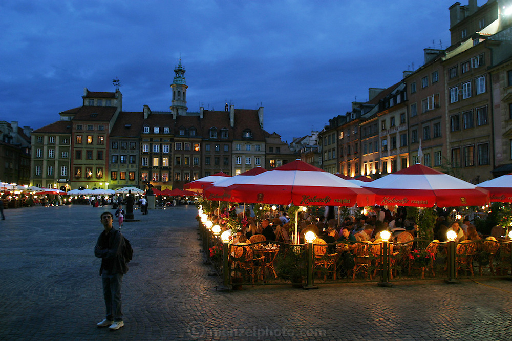 Old Town Square restaurant. Warsaw, Poland.