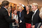 LEO JOHNSON; RACHEL JOHNSON; BORIS JOHNSON; JO JOHNSON, Exhibition opening of paintings by Charlotte Johnson Wahl. Mall Galleries. London, 7 September 2015.
