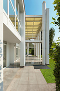 Architecture, porch of a modern house, exterior