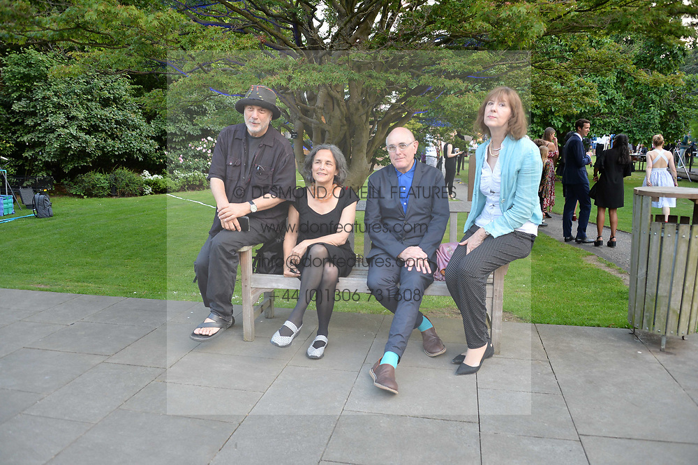 Ron Arad, Alma Arad, Humphrey Ocean and guest at the Dulwich Picture Gallery's inaugural Summer Party, Dulwich Picture Gallery, College Road, London England. 13 June 2017.