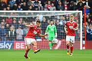 Nottingham Forest defender Eric Lichaj (2) during the EFL Sky Bet Championship match between Nottingham Forest and Burton Albion at the City Ground, Nottingham, England on 21 October 2017. Photo by Jon Hobley.