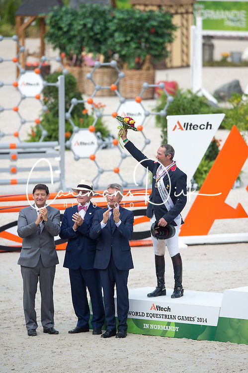 Podium - Show Jumping Final Four - Alltech FEI World Equestrian Games™ 2014 - Normandy, France.<br /> © Hippo Foto Team - Jon Stroud<br /> 07/09/2014