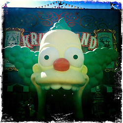 The Simpsons Ride at Universal Studios at their Orlando Resort. Orlando holiday 2012. Photo taken with the Hipstamatic photo application on Apple iPhone 4.
