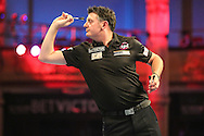 Justin Pipe during the First Round of the BetVictor World Matchplay Darts at the Empress Ballroom, Blackpool, United Kingdom on 19 July 2015. Photo by Shane Healey.
