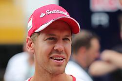 23.07.2015, Hungaroring, Budapest, HUN, FIA, Formel 1, Grand Prix von Ungarn, Vorberichte, im Bild Sebastian Vettel (Scuderia Ferrari) // during the preperation of the Hungarian Formula One Grand Prix at the Hungaroring in Budapest, Hungary on 2015/07/23. EXPA Pictures © 2015, PhotoCredit: EXPA/ Eibner-Pressefoto/ Bermel<br /> <br /> *****ATTENTION - OUT of GER*****