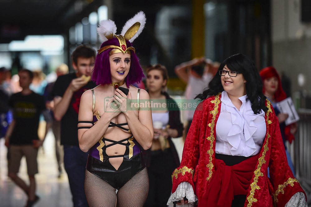 May 24, 2019 - London, UK - LONDON, UK.  Cosplayers attend the opening day of the bi-annual MCM Comic Con event at the Excel Centre in Docklands.  The event celebrates popular culture such as video, games, manga and anime providing many attendees with the opportunity to dress up as their favourite characters. (Credit Image: © Stephen Chung/London News Pictures via ZUMA Wire)